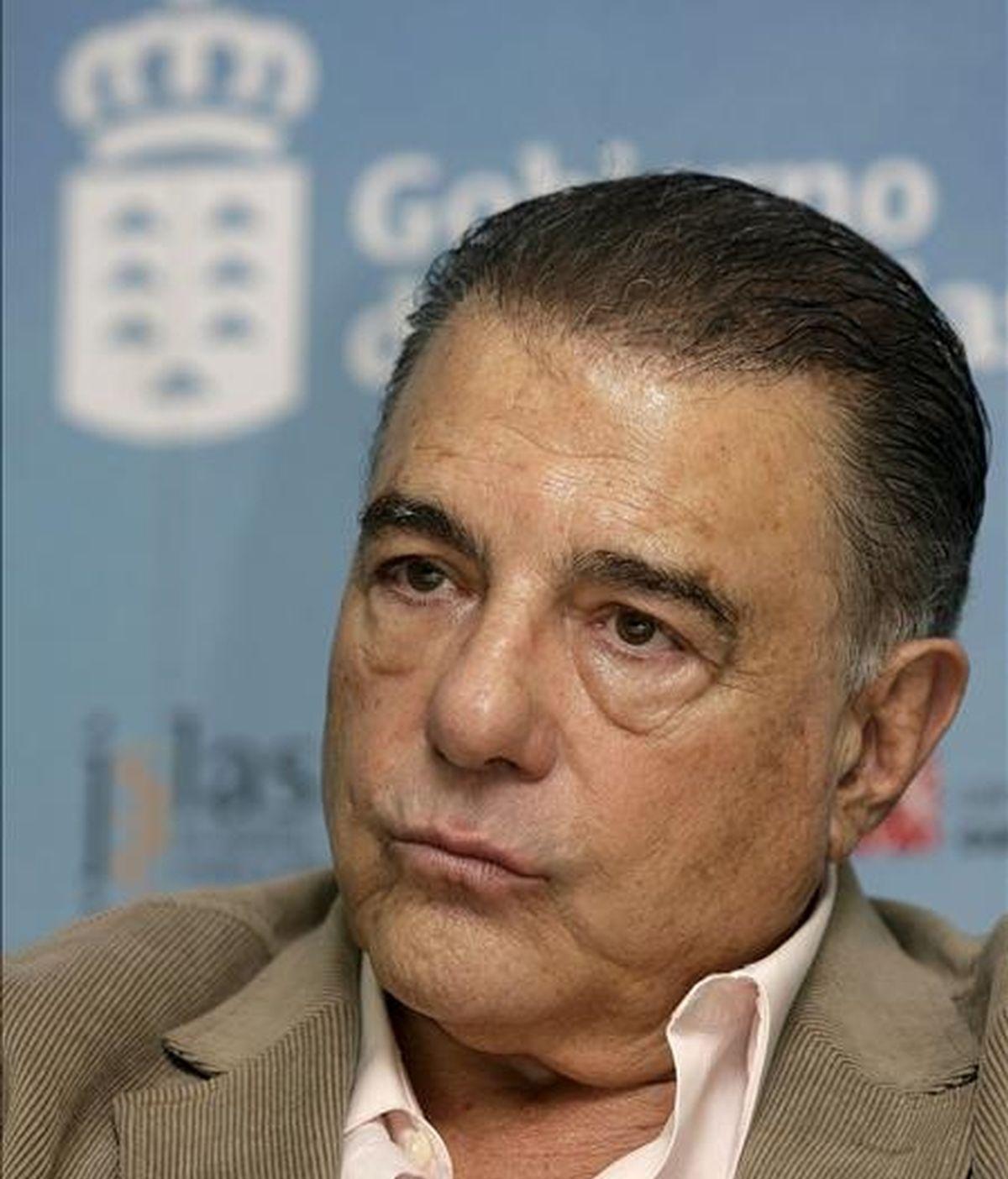 """El actor Juan Luis Galiardo, durante la presentación del reestreno de la película """"Guarapo"""" en diciembre pasado. EFE/Archivo"""