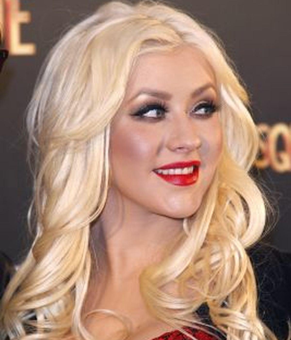 Christina Aguilera, durante la presentación en Madrid de su última película, 'Burlesque'. Foto: Gtres.