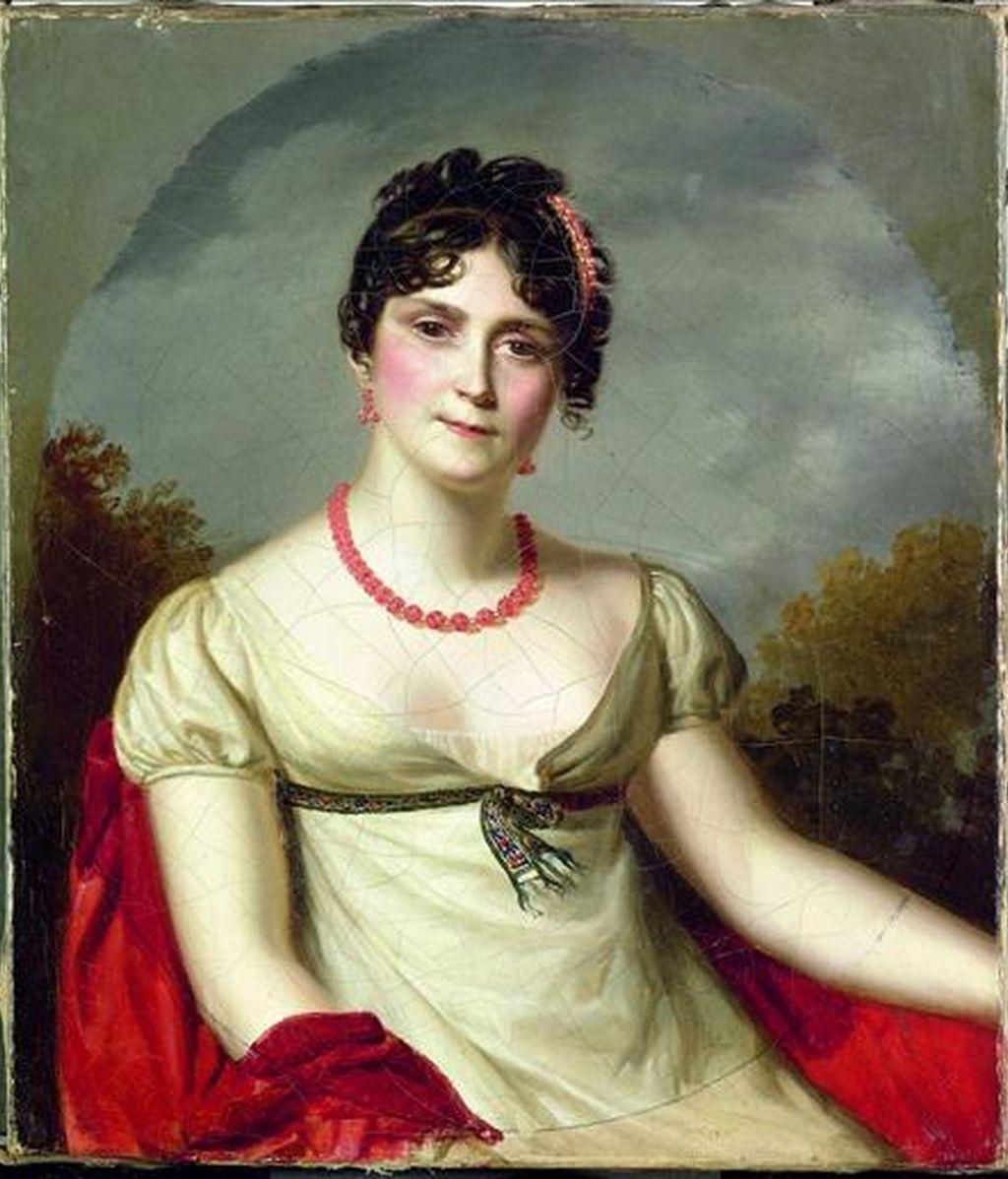 """Fotografía facilitada por los organizadores de la exposición """"Los vinos de la emperatriz. La bodega de Josefina en Malmaison (1800-1814)"""", del """"Retrato de la emperatriz Josefina"""" (1812), de Firmin Masson (1766-1849), que forma parte de la muestra en la que puede verse desde hoy en Roma la pasión de la que fuera la primera esposa de Napoleón, por los buenos vinos y su gran conocimiento del arte de la enología. EFE"""