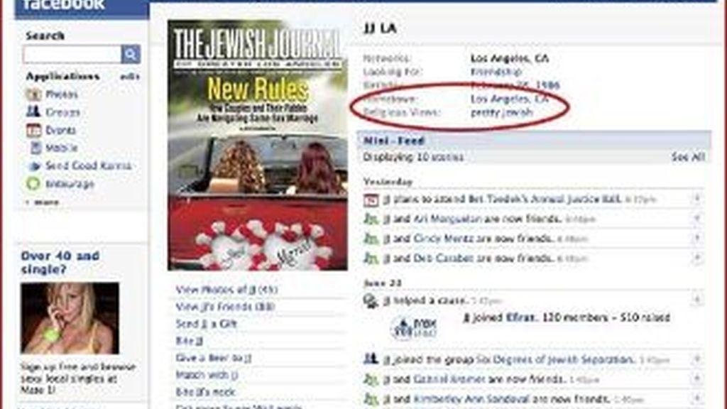 Un portal judío en Facebook invita a hacerse 'amigo' de la publicación.