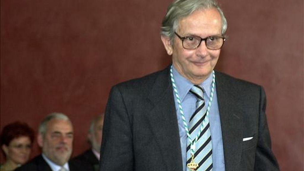 El pintor Felix Revello del Toro tras recibir la medalla de Andalucia, en 2002. EFE/Archivo
