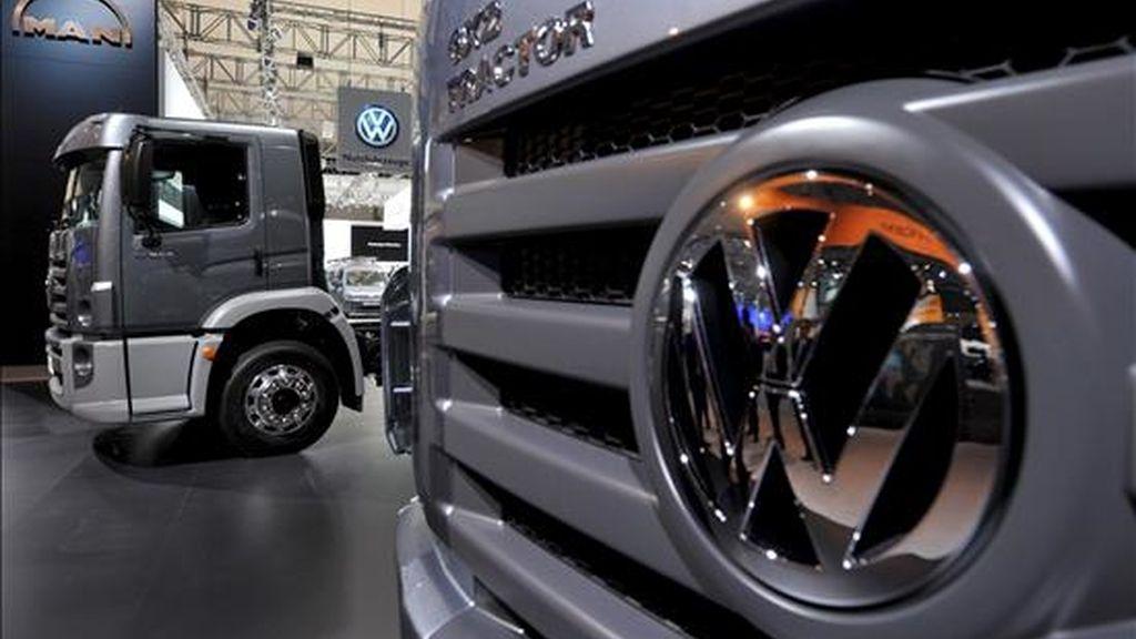 Camiones de la empresa alemana Volkswagen. EFE/Archivo