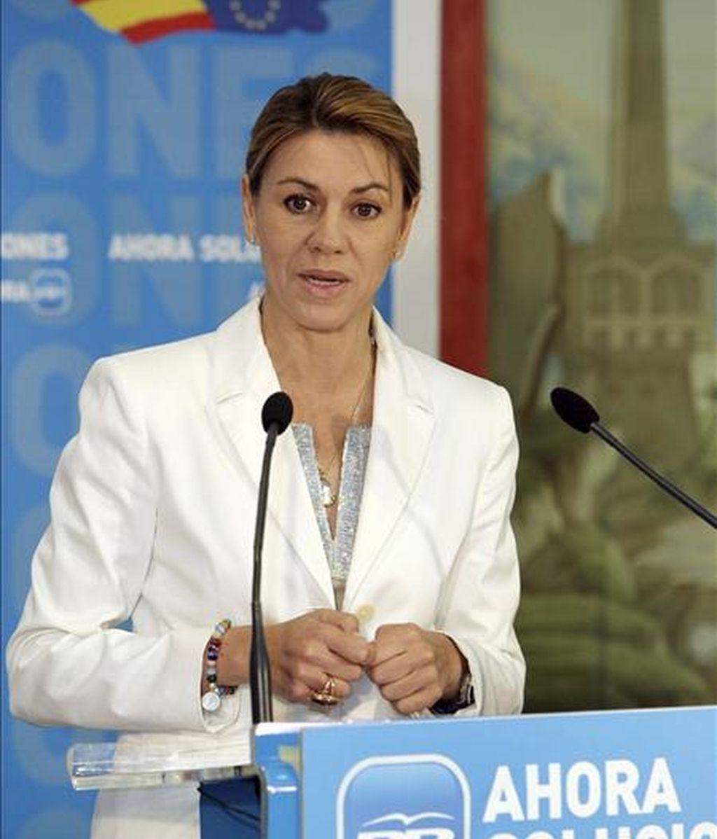 La presidenta regional del Partido Popular y secretaria general nacional, María Dolores de Cospedal. EFE/Archivo