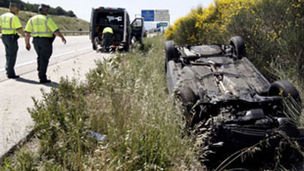 Imagen de archivo de un accidente de tráfico. Foto: EFE.