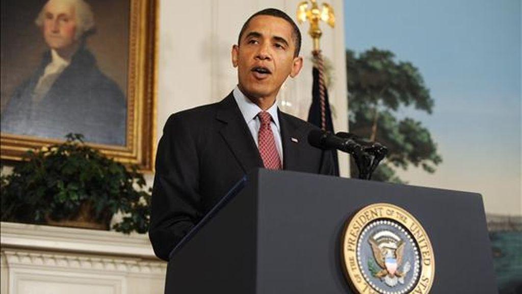 El mandatario estadounidense, Bracak Obama (en la imagen) tiene previsto entrevistarse con el presidente Hamid Karzai y con el jefe del Mando Conjunto Central de EE.UU., general David Petraeus. EFE/Archivo