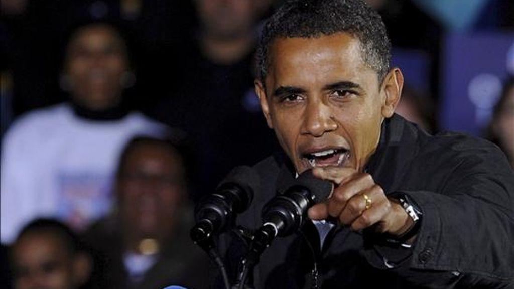 La obra revive la histórica campaña electoral de Obama y destaca lo improbable que parecía que se convirtiera en el primer presidente negro de Estados Unidos. EFE/Archivo