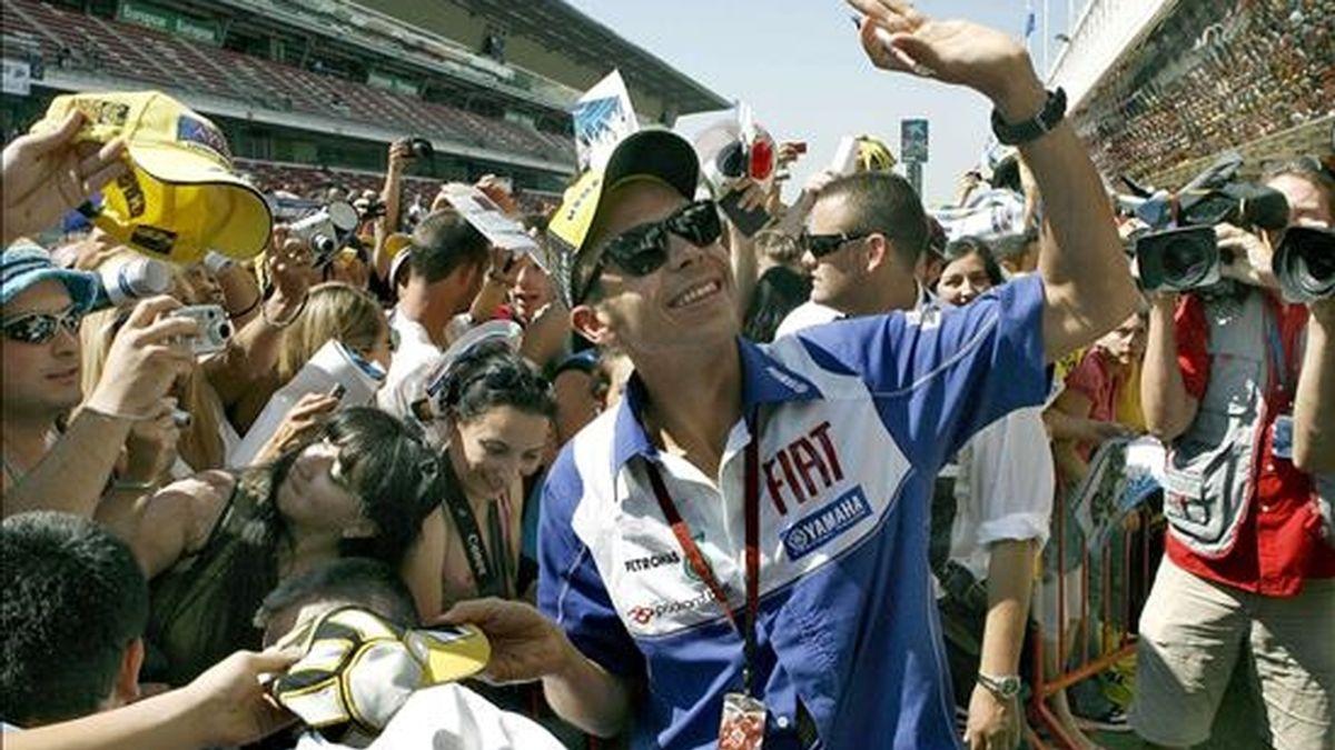 El piloto italiano de MotoGP Valentino Rossi (Fiat-Yamaha). EFE/Archivo