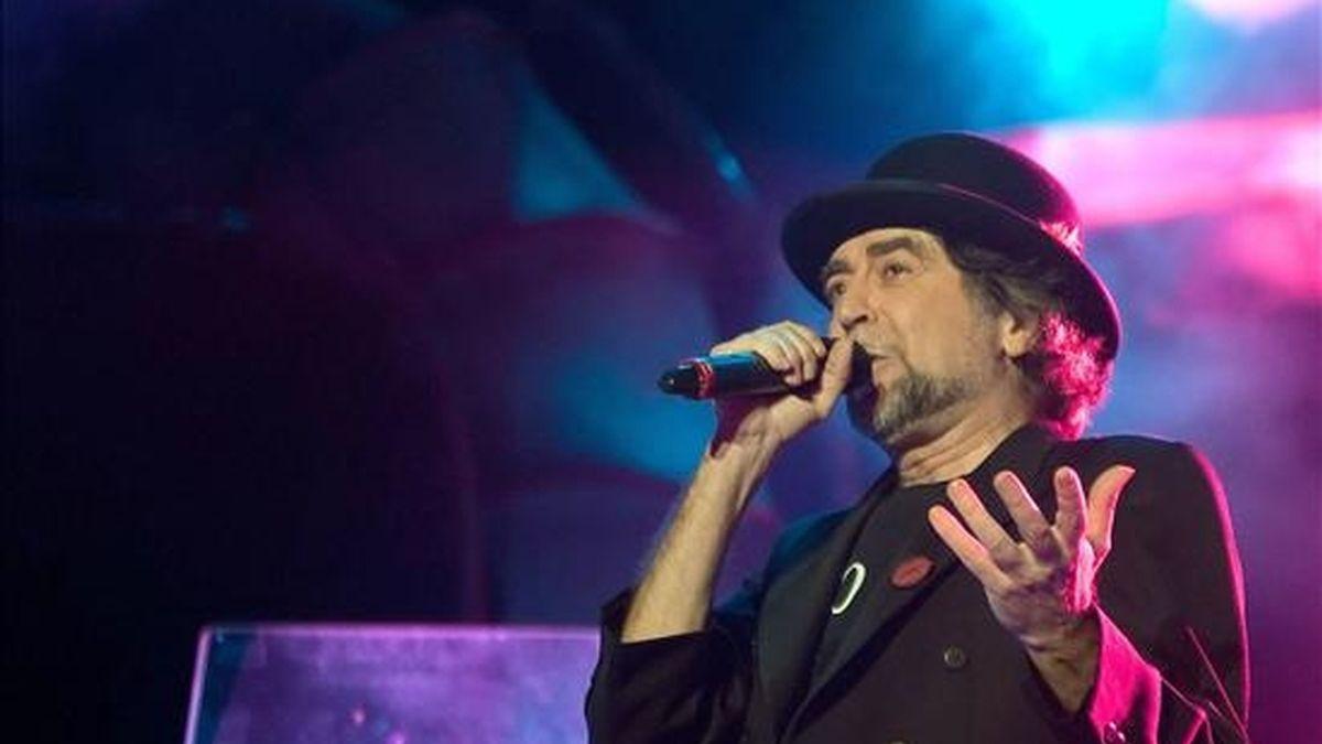 El cantante Joaquin Sabina, durante un concierto en el velódromo Palma Arena de la capital balear. EFE/Archivo
