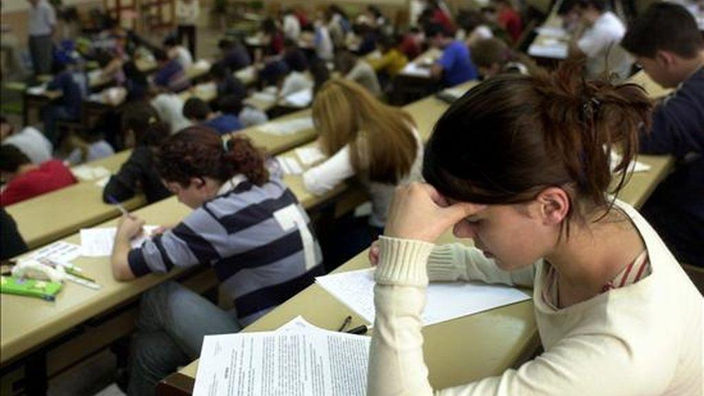 En la imagen, una clase de estudiantes universitarios. EFE/Archivo