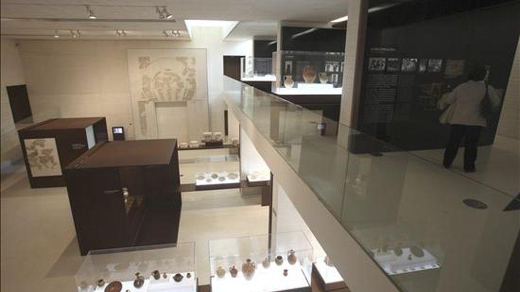 Vista del interior del museo de Medina Azahara de Córdoba que se ha convertido en el primer diseño arquitectónico español que se ha alzado con el Premio Aga Khan de Arquitectura, que distingue proyectos de conservación y revitalización urbanas de sitios de importancia cultural. EFE