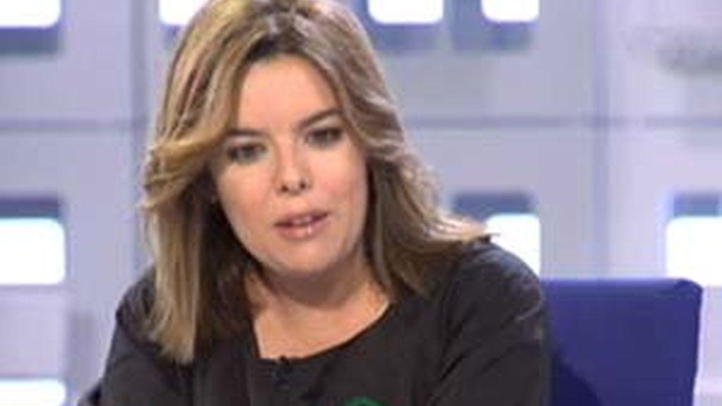 Soraya Sáenz de Santamaría, portavoz del PP en el Cogreso, en La Mirada Crítica.