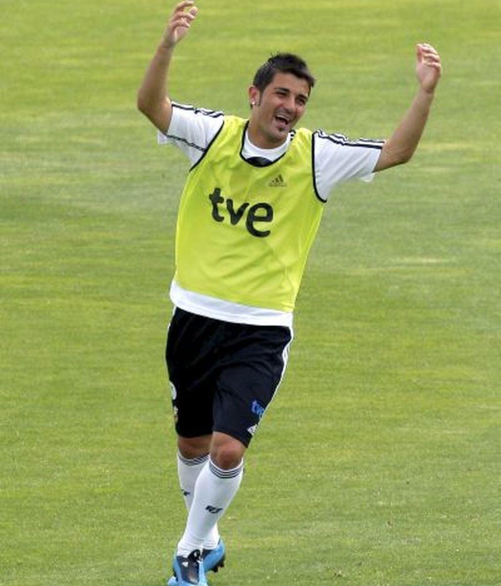 David Villa, máximo goleador de la Eurocopa, es una de las estrellas de esta Selección. FOTO: EFE.