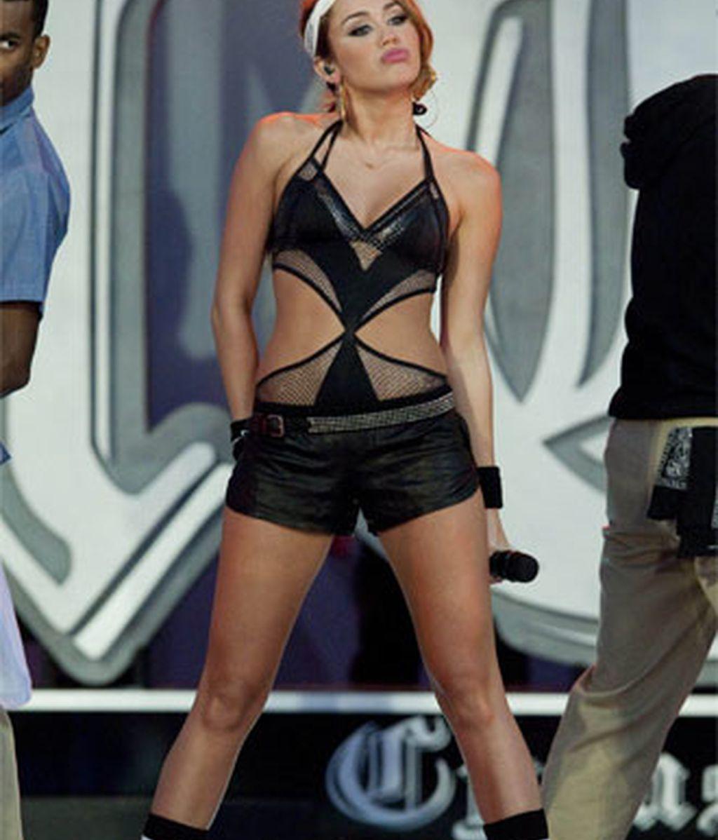 Miley Cyrus, en uno de sus últimos conciertos