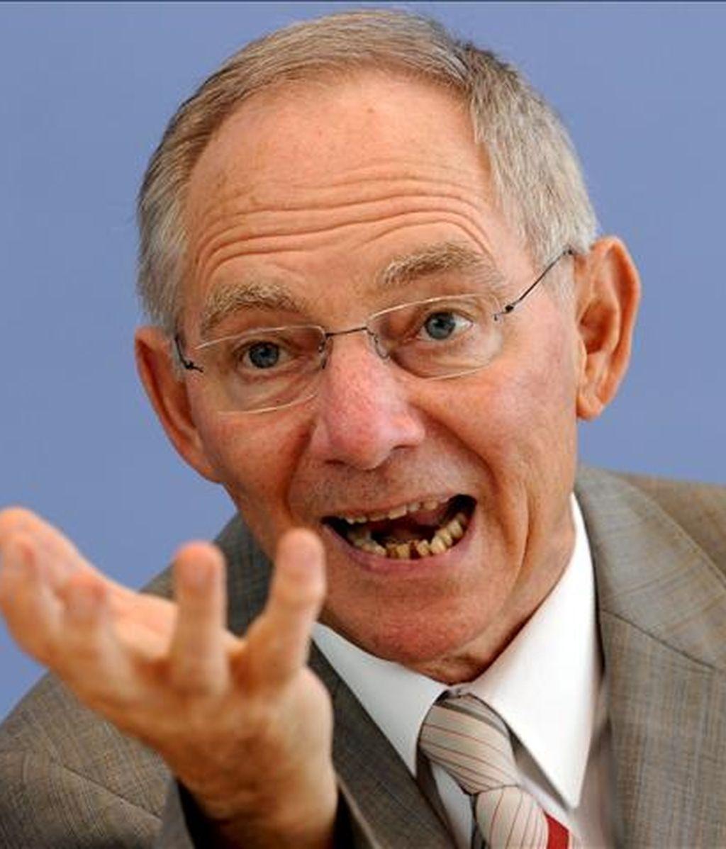 El ministro alemán de Finanzas, Wolfgang Schäuble, durante una rueda de prensa. EFE/Archivo