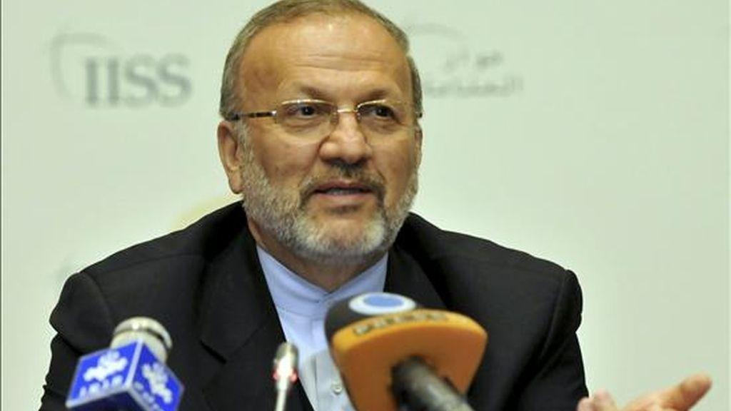 En la imagen, el hasta ahora ministro de Asuntos Exteriores, Manoucher Motaki. EFE/Archivo