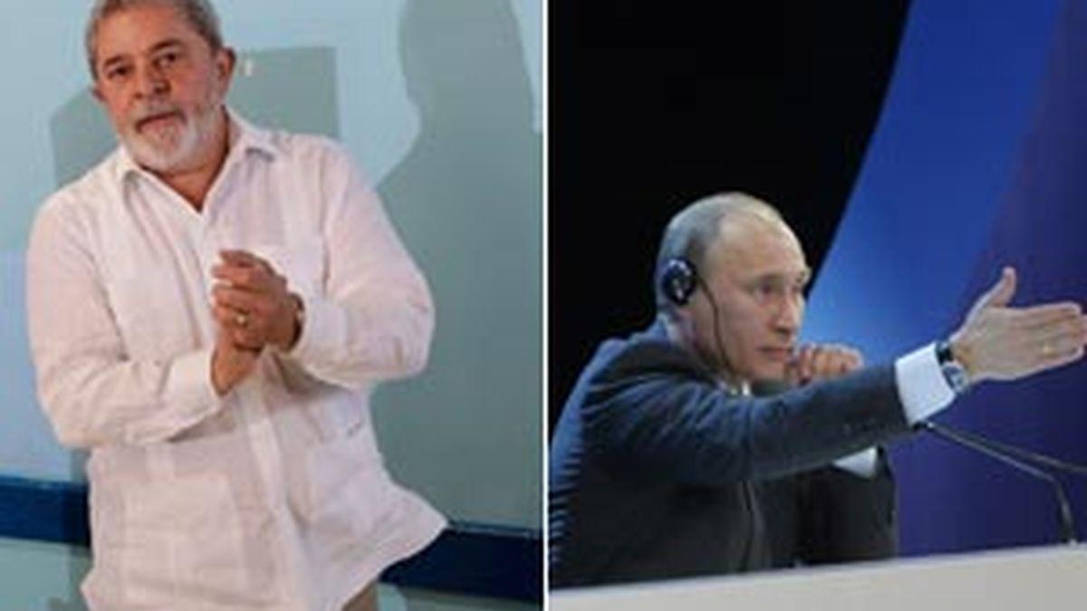 Lula y Putin han sido los únicos dirigentes que han hablado en favor de Assange. Fotos:Gtres
