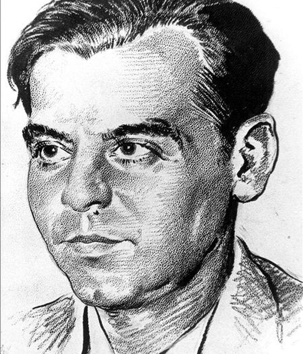 Retrato pintado del poeta Federico García Lorca. EFE/Archivo