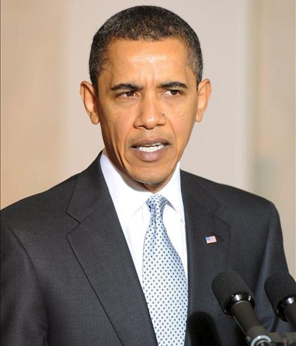 El presidente estadounidense, Barack Obama, hoy en la Casa Blanca en Washington. EFE