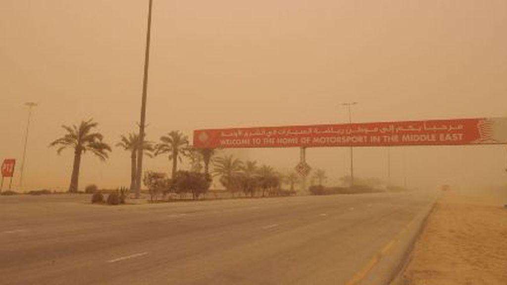 Imagen de la tormena en Bahrein. Foto: EFE