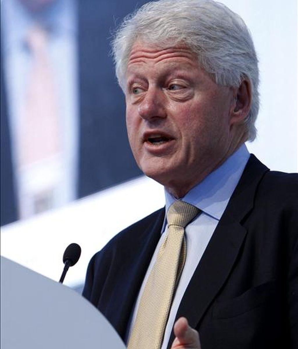 """""""Hubiera sido un desastre que Netanyahu no hubiera admitido la posibilidad de la solución de los dos Estados. No hay una solución alternativa razonable a esto"""", dijo el ex presidente Bill Clinton. EFE/Archivo"""