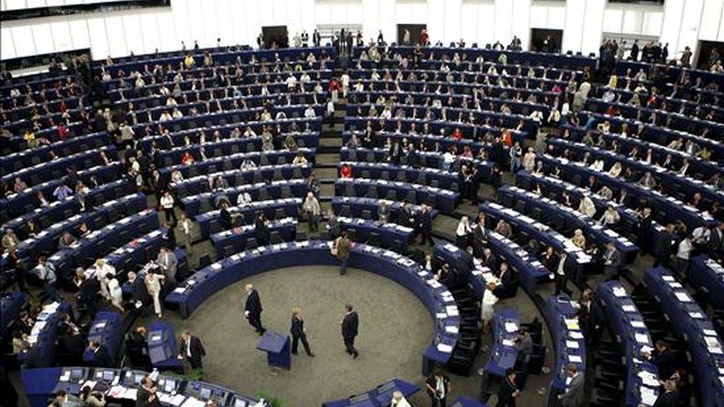 Vista del hemiciclo del Parlamento Europeo, en Estrasburgo (Francia). EFE/Archivo
