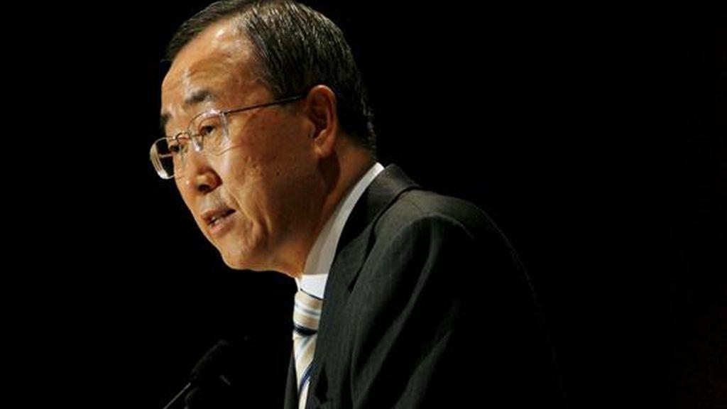 """El secretario general de la ONU, Ban Ki-moon, indicó que """"el abuso de las drogas se puede prevenir, tratar y controlar"""". EFE/Archivo"""
