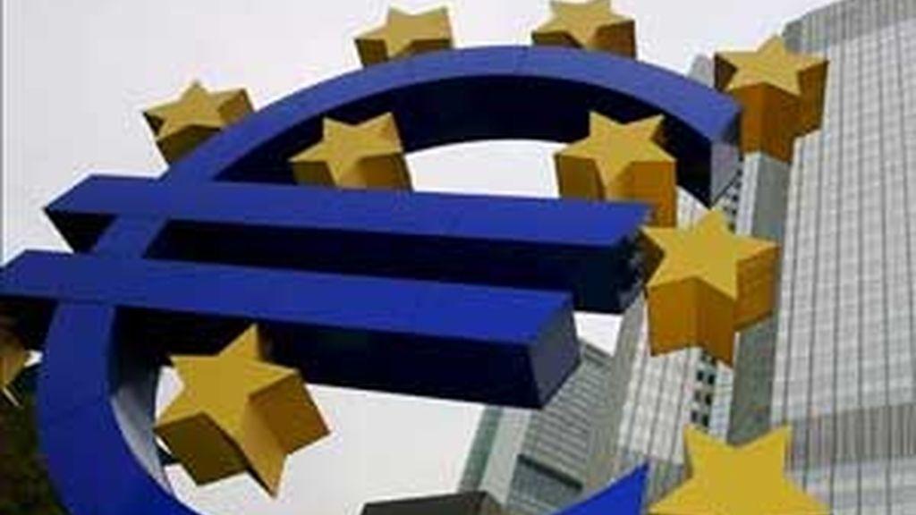 El Euribor registró alcanzó el 4,825 % en abril de 2008. FOTO: EFE