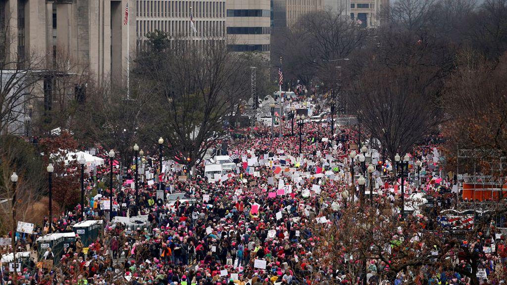 Más de medio millón de personas en la Marcha de Mujeres sobre Washington