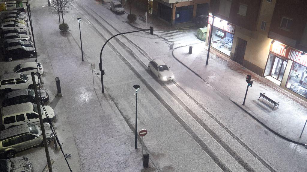 La nieve cubre las calles de Gandía