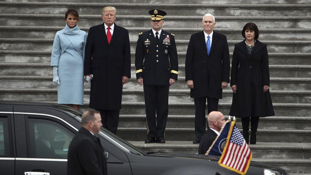 Donald Trump se prepara para iniciar el desfile