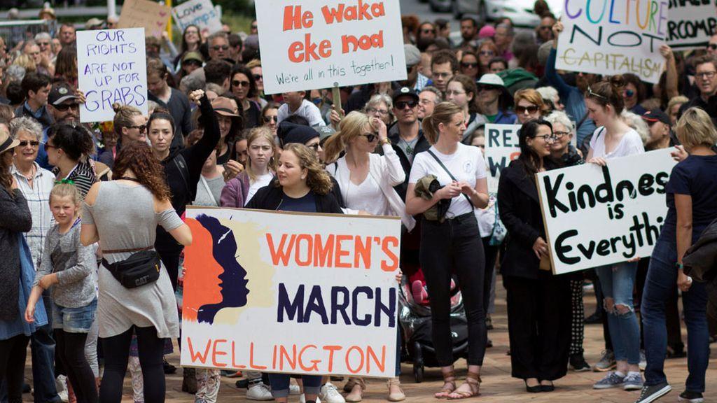 Marcha en Wellington, NuevaZelanda