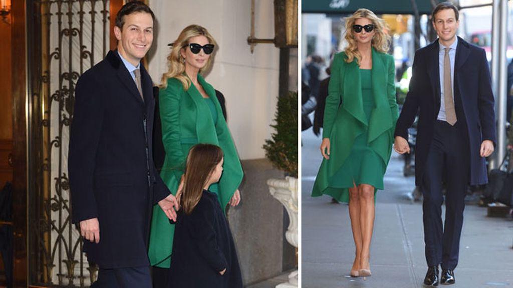 Ivanka sigue de verde esperanza y aprovecha para pasear con Jared por NY