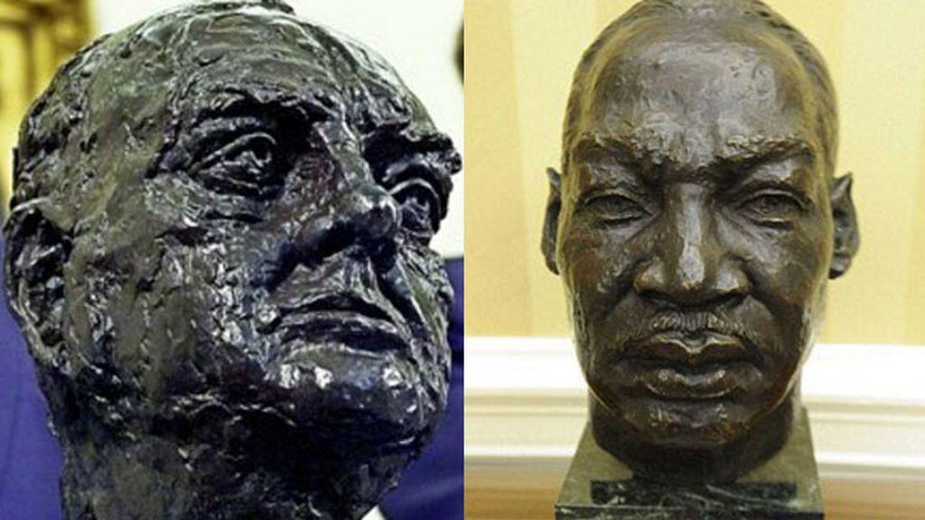 El busto de Churchill desplaza al de Luther King en el Despacho Oval