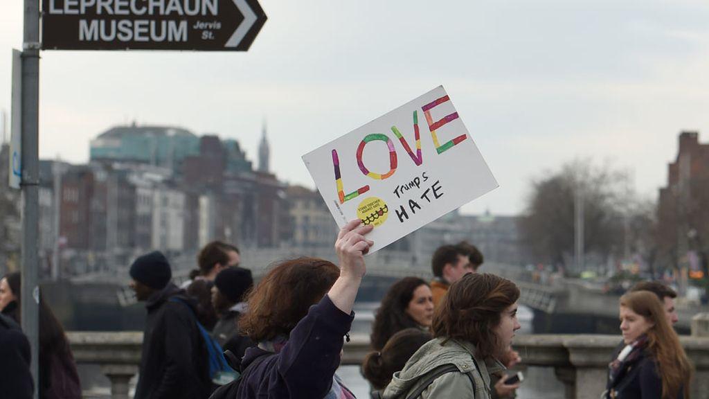 Marcha en Dublín, Irlanda