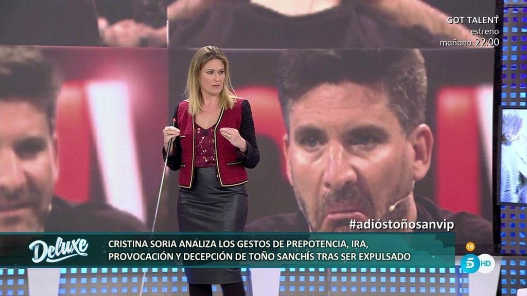 """Cristina Soria: """"Los gestos provocadores de Toño delatan que estaba realmente afectado"""""""