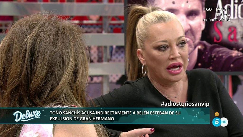 ¿Cómo reaccionó Belén Esteban a la expulsión de Toño Sanchís de 'GH Vip'?