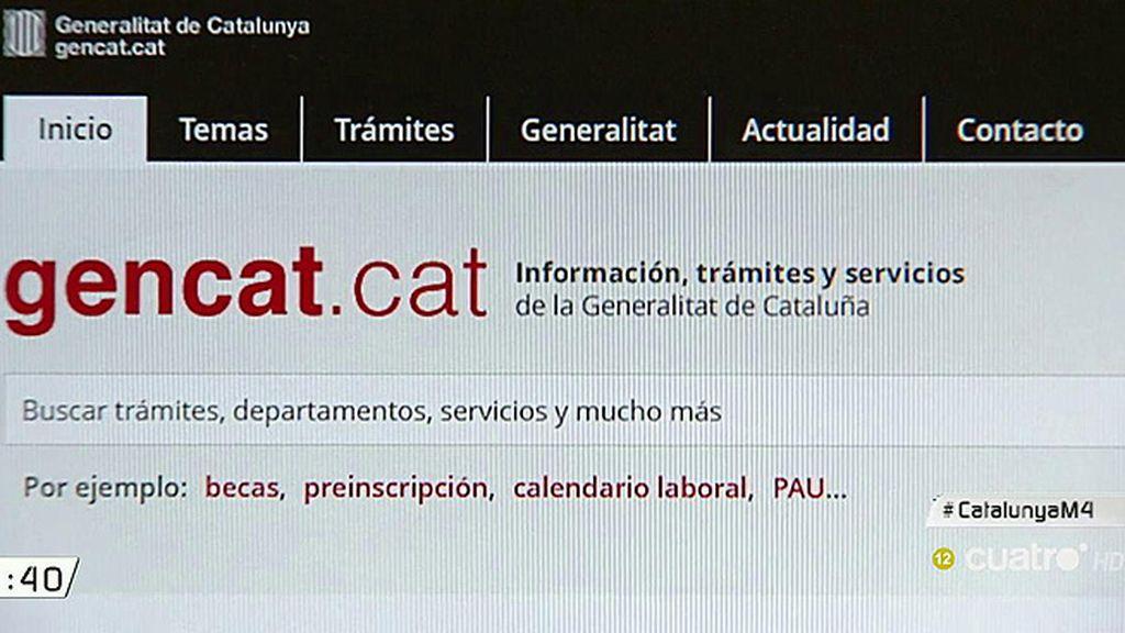 El lapsus de Mariano Rajoy con la página web de la Generalitat