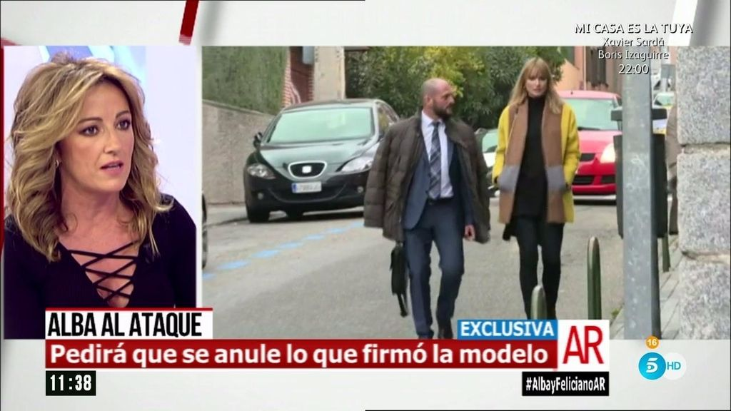 "Sandra Aladro: ""Alba va a pedirle 500.000 euros a Feliciano"""