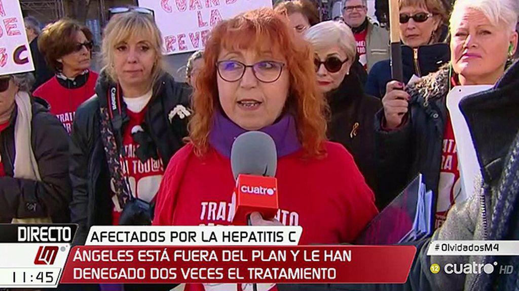 """Ángeles, afectada de hepatitis C: """"Me han denegado el tratamiento dos veces"""""""