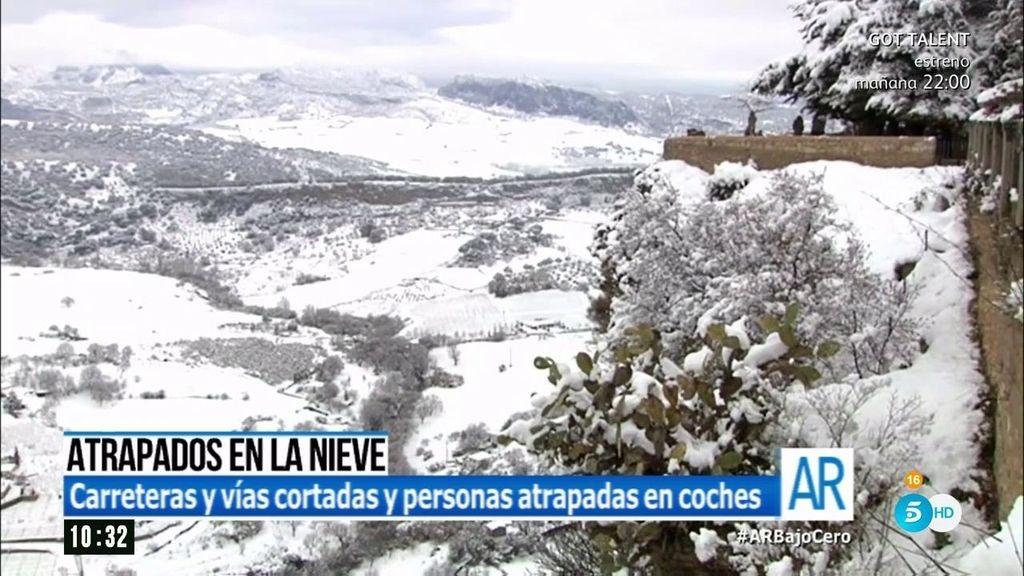 'AR' te muestra las imágenes mas impactantes del temporal de nieve en España