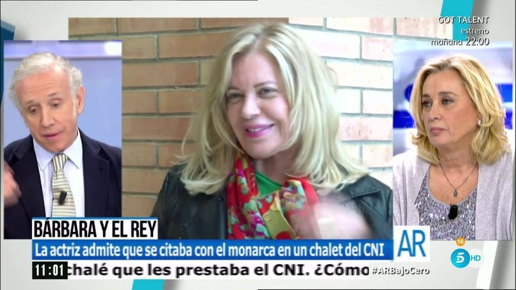 Bárbara Rey admite que se citaba con el monarca en un chalet del CNI