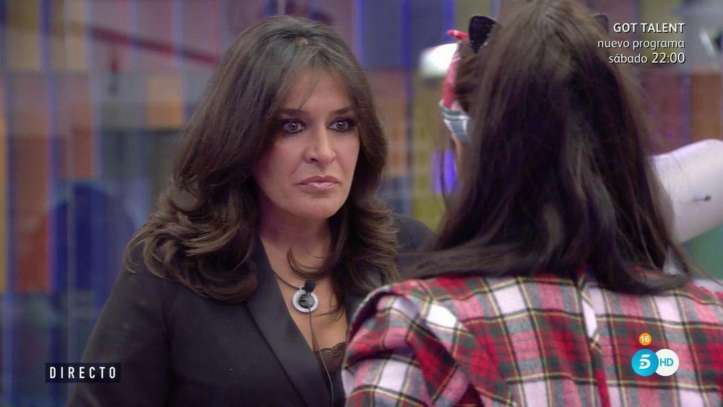 "Elettra Lamborghini, a Aída Nízar: ""¿Eres la hermana de Terelu?"""