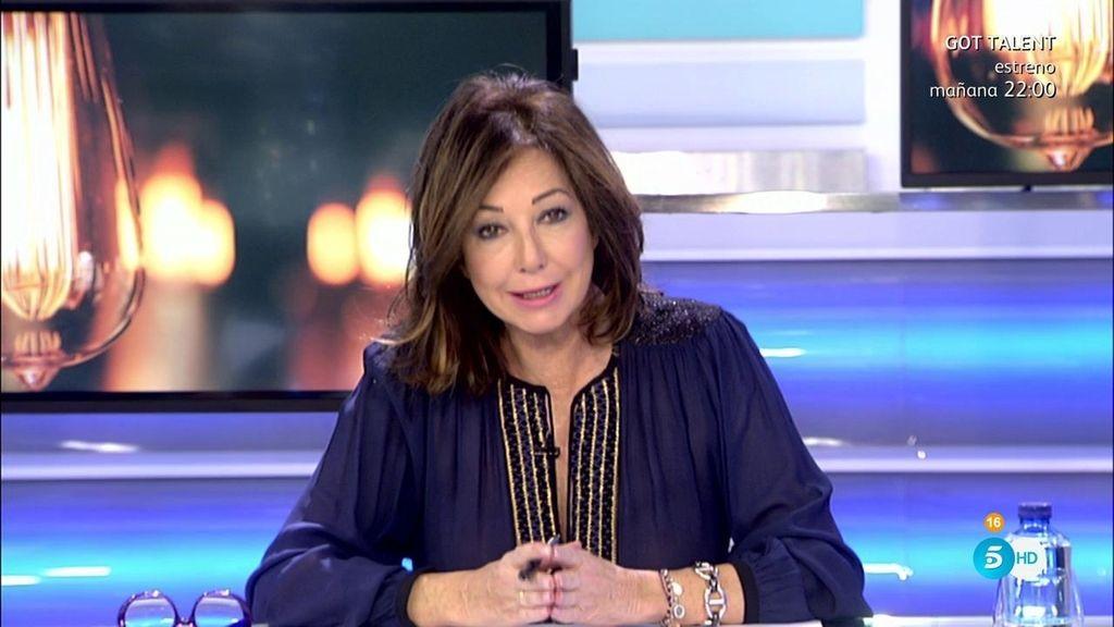 """Ana Rosa: """"No se puede consentir que en España una familia duerma a 0°C"""""""