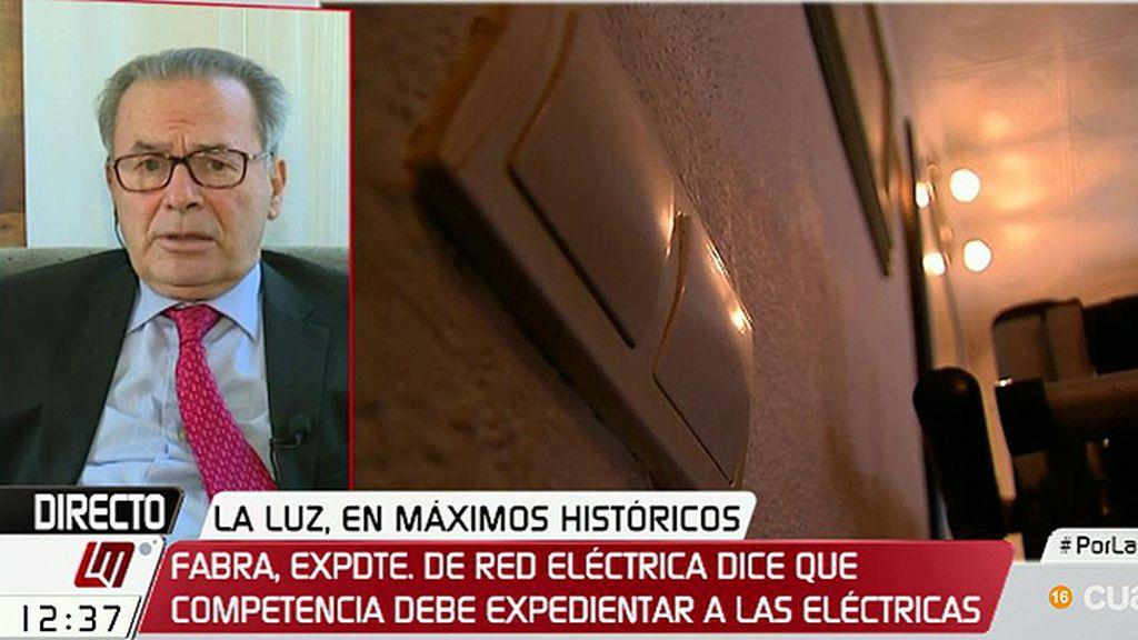 """J. Fabra, expresidente de Red Eléctrica Española: """"Tiene que revisarse profundamente la regulación del mercado"""""""