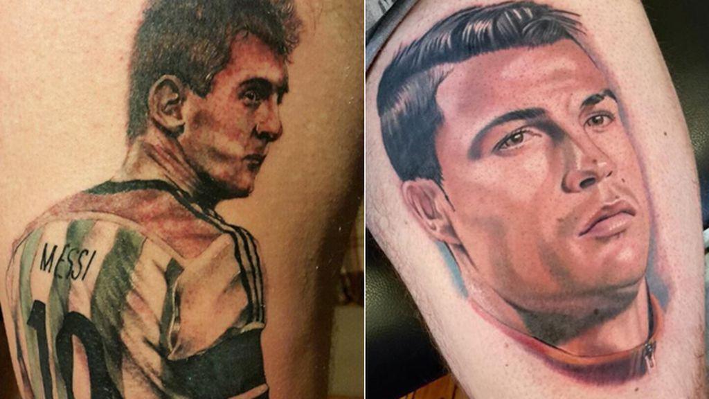 Cristiano Ronaldo,Leo Messi,Tatuajes