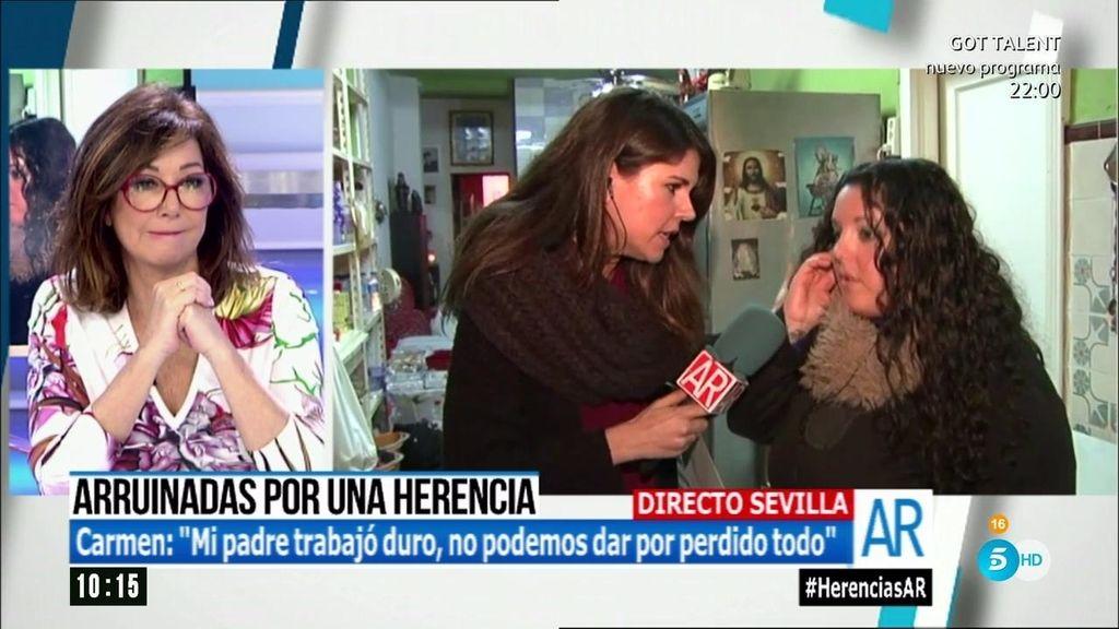 """La Junta le pide 360.000 euros por heredar: """"Ni vendiendo todo, podemos pagarlo"""""""""""