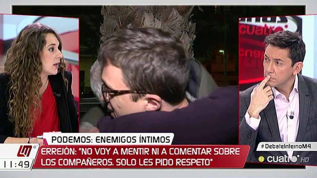 """N. Vera (Podemos): """"Ningún equipo ha puesto en cuestión que el liderazgo debería seguir repercutiendo en Iglesias"""""""
