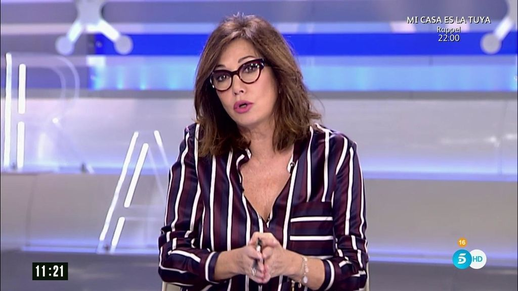 """Ana Rosa: """"Que quede claro: no me gusta que le partan la cara a nadie"""""""