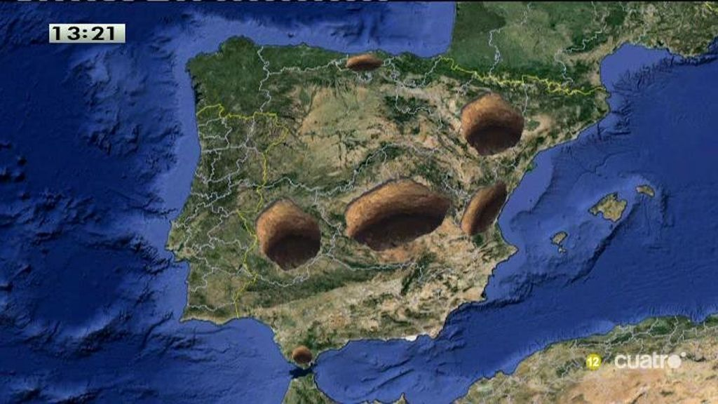 El mapa de los agujeros de España