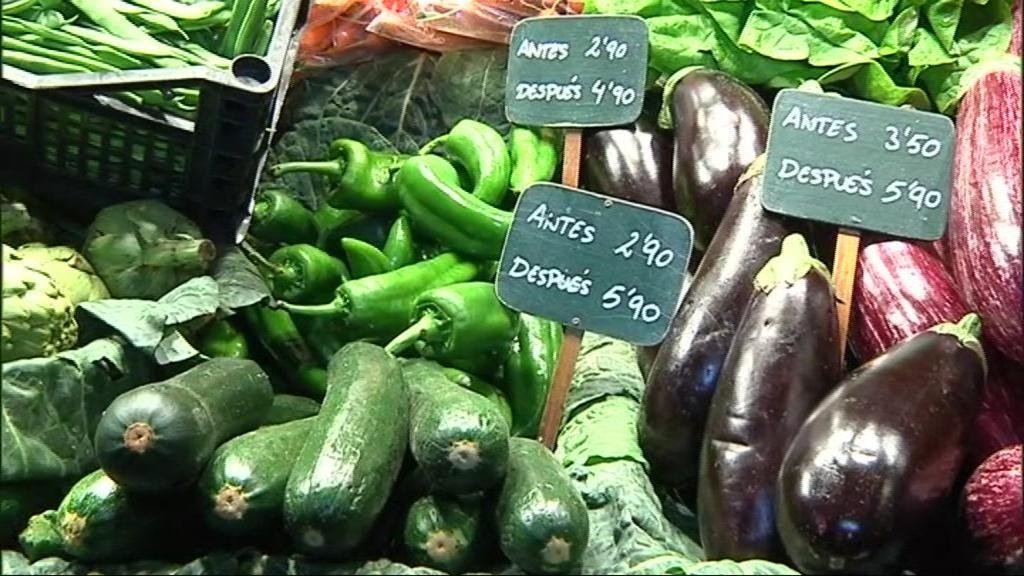 Frutas y verduras a precios desorbitantes: la otra cara del temporal